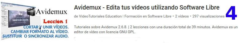 curso del software libre avidemux en youtube