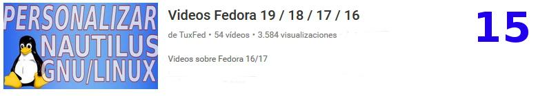 vídeos tutoriales sobre la distribución Linux Fedora en youtube