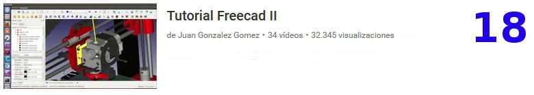curso del software libre Freecad en youtube