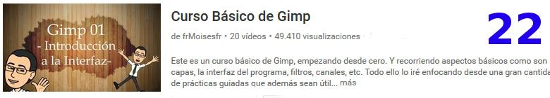 curso sobre el software libre GIMP en youtube