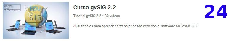 curso del software libre gvSIG en youtube