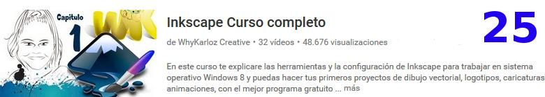 curso del software libre Inkscape en youtube