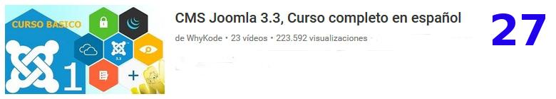 curso sobre el software libre JOOMLA en youtube