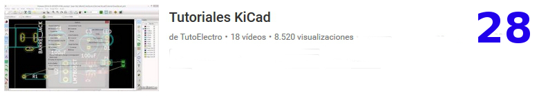 curso del software libre KICAD en youtube