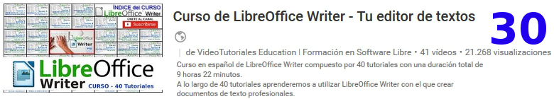curso de libreoffice writer en youtube