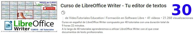 curso de libreoffice writer en youtube