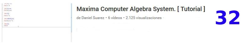curso matemáticas álgebra Máxima software libre en youtube