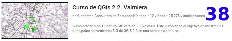 curso deL software libre QGIS en youtube