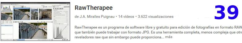 curso del software libre RawTherapee en youtube