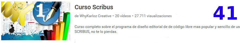 curso del software libre scribus en youtube