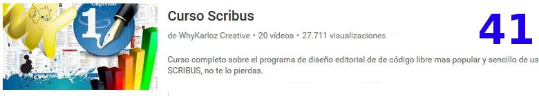 curso del software libre scribus en youtube