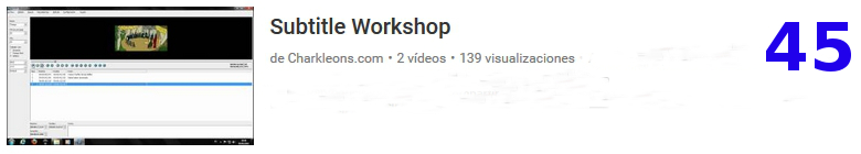 curso del software libre SUBTITLE WORKSHOP