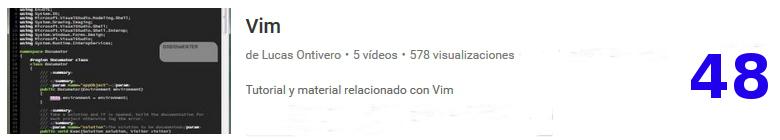 curso de VIM en youtube