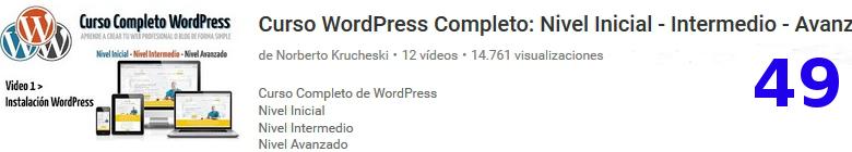 curso de wordpress en youtube